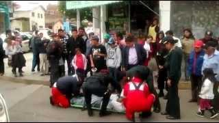 Invidente atropellado en la esquina del movimiento (breña y tacna) Huancayo