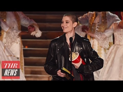 Asia Kate Dillon Presents Gender-Neutral Acting Award to Emma Watson | THR News