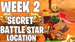 WEEK 2 SECRET BATTLE STAR LOCATION! FORTNITE SEASON 6!