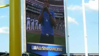 luke bryan singing the national anthem and b2 flyover at the 2012 asg
