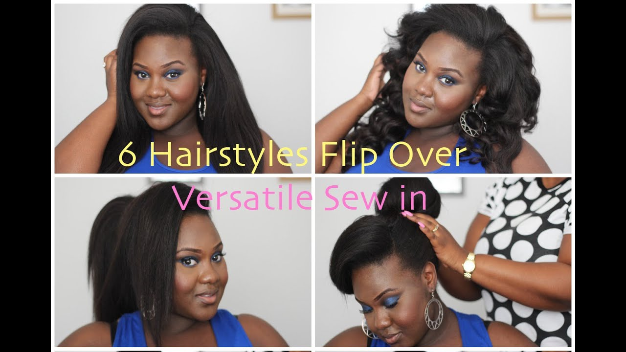 6 hairstyles for flipover versatile sew in | style it up with my sis bb + bloopers! | chanel boateng