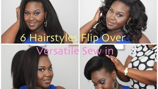 6 HairStyles for Flipover Versatile Sew in | Style it Up with my sis BB + Bloopers! | Chanel Boateng Thumbnail