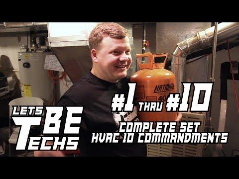 HVAC Service 10 Commandments