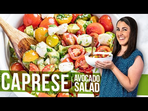 Avocado Strawberry Caprese Salad