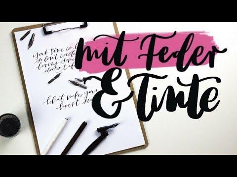 Moderne Kalligrafie Fur Anfanger Kalligrafie Youtube