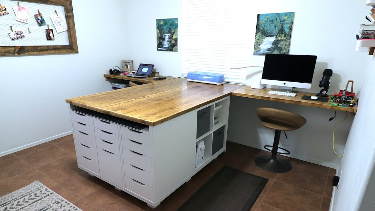 Ultimate Crafting Table Desk Ikea Office Storage Youtube