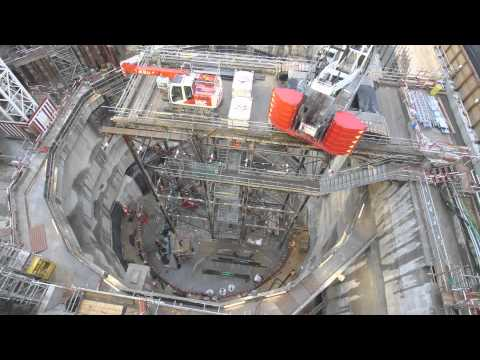 Crossrail Time-lapse: Construction of Moorgate access shaft