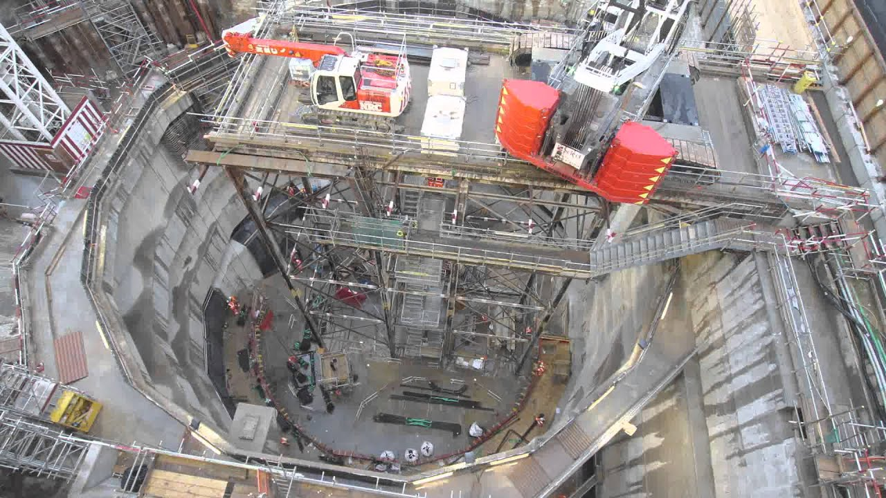 Crossrail Time Lapse Construction Of Moorgate Access Shaft
