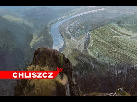 Photoshop digital painting – Mountain Landscape