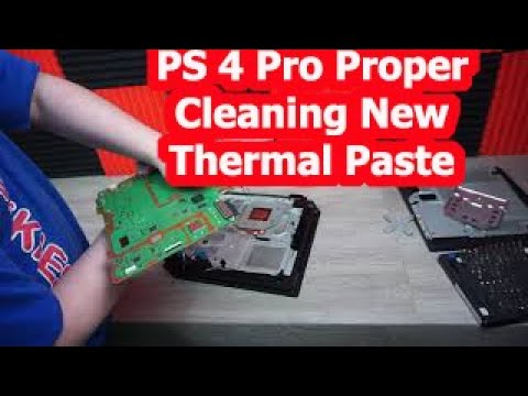 PS4 Pro Proper Cleaning 100% Working - Cleaning Tips & New Thermal Paste Stop Overheating Today!