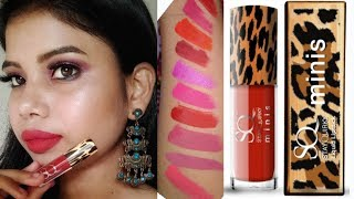 STAY QUIRKY MINI LIQUID LIPSTICKS REVIEW💄 & HAND & LIP SWATCHES 💋 //OwnStyle - Shree