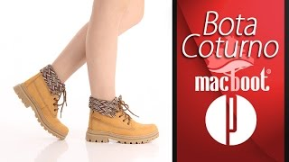 Скачать Bota Coturno Feminina Macboot Mostarda 6010397299