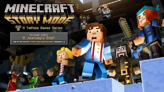 """Minecraft: Story Mode Episode 8 """"A Journey's End"""" All Cutscenes (Game Movie) 1080p HD"""