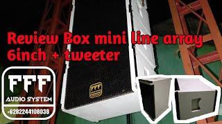 Review Box mini line array 6inch