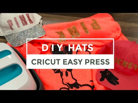 How To Apply HTV To A Hat | Cricut Easy Press