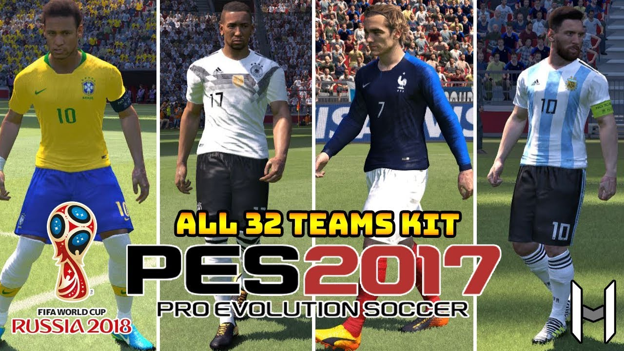 78409e515bc FIFA World Cup 2018 Kits for PES 2017   PES 2018 (ALL TEAMS) -  WorldCup2018V2 By Geo Craig90