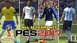 FIFA World Cup 2018 Kits for PES 2017 & PES 2018 (ALL TEAMS) - WorldCup2018V2 By Geo_Craig90
