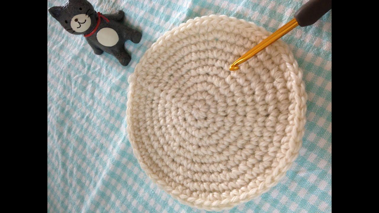 円(Circle)の編み方を解説☆10段目まで挑戦!CROCHETかぎ針編み , YouTube