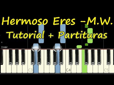 HERMOSO ERES Piano Tutorial Cover Facil + Partitura PDF Sheet Music Easy Midi thumbnail