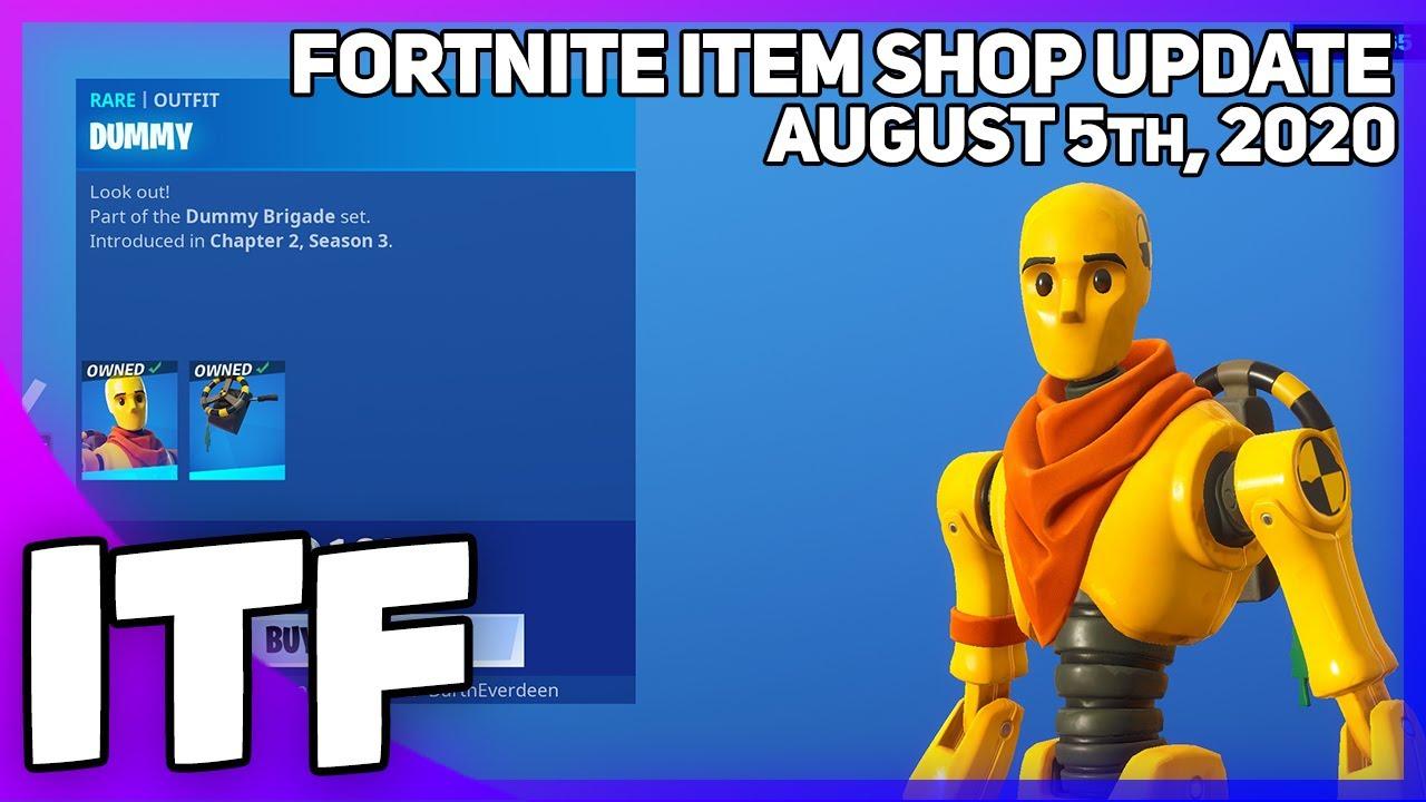 Fortnite Item Shop UPDATE *NEW* DUMMY SKIN SET! (Fortnite Battle Royale)