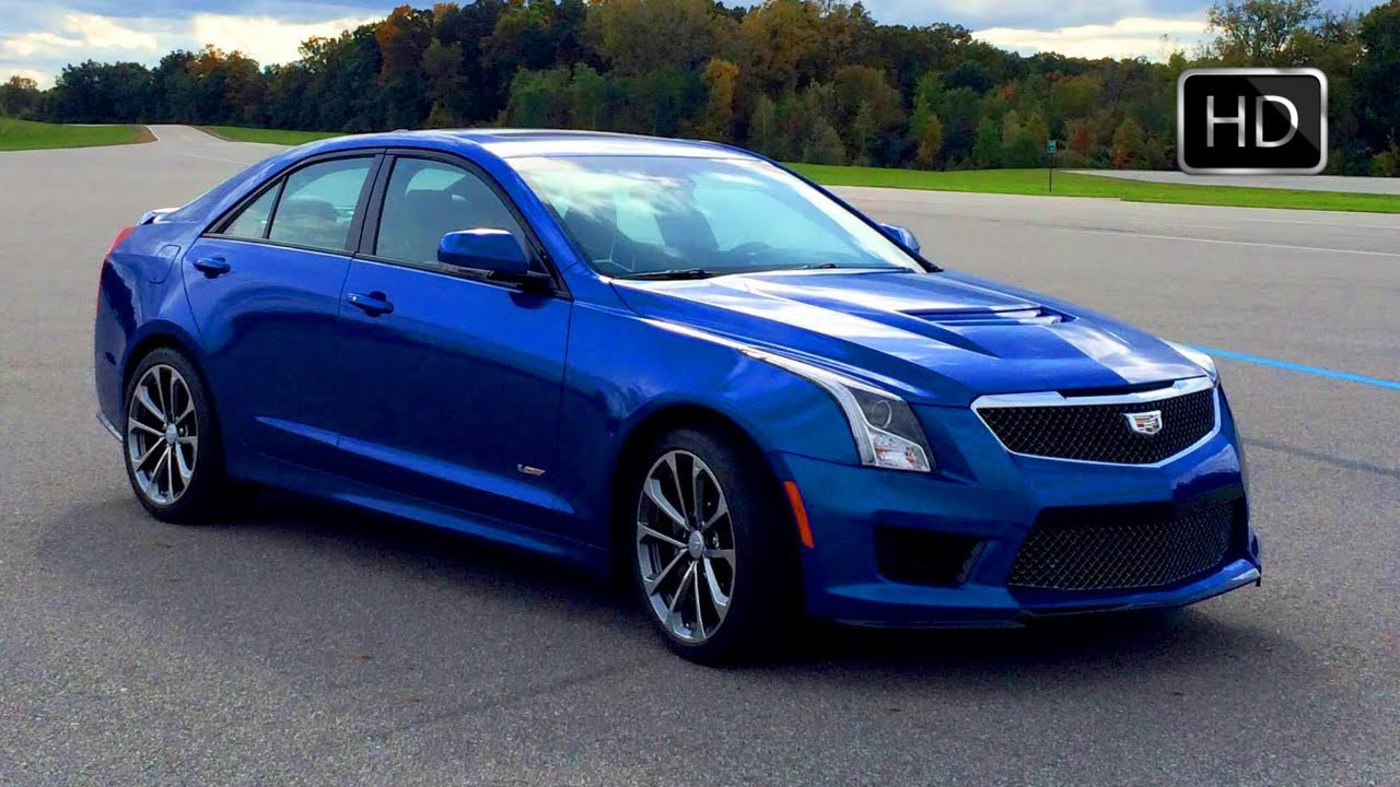 2016 cadillac ats-v sedan test drive on racetrack hd