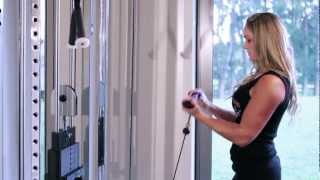 Training Biceps, Triceps & Abs with IFBB Figure Pro Raechelle Chase