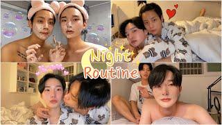 SUB) ✨ Korean Gay Couples Night Routine ✨ㅣ게이커플 나이트 루틴