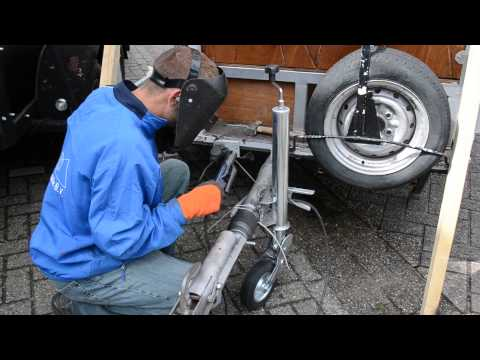 solar panel electricity welding trailer