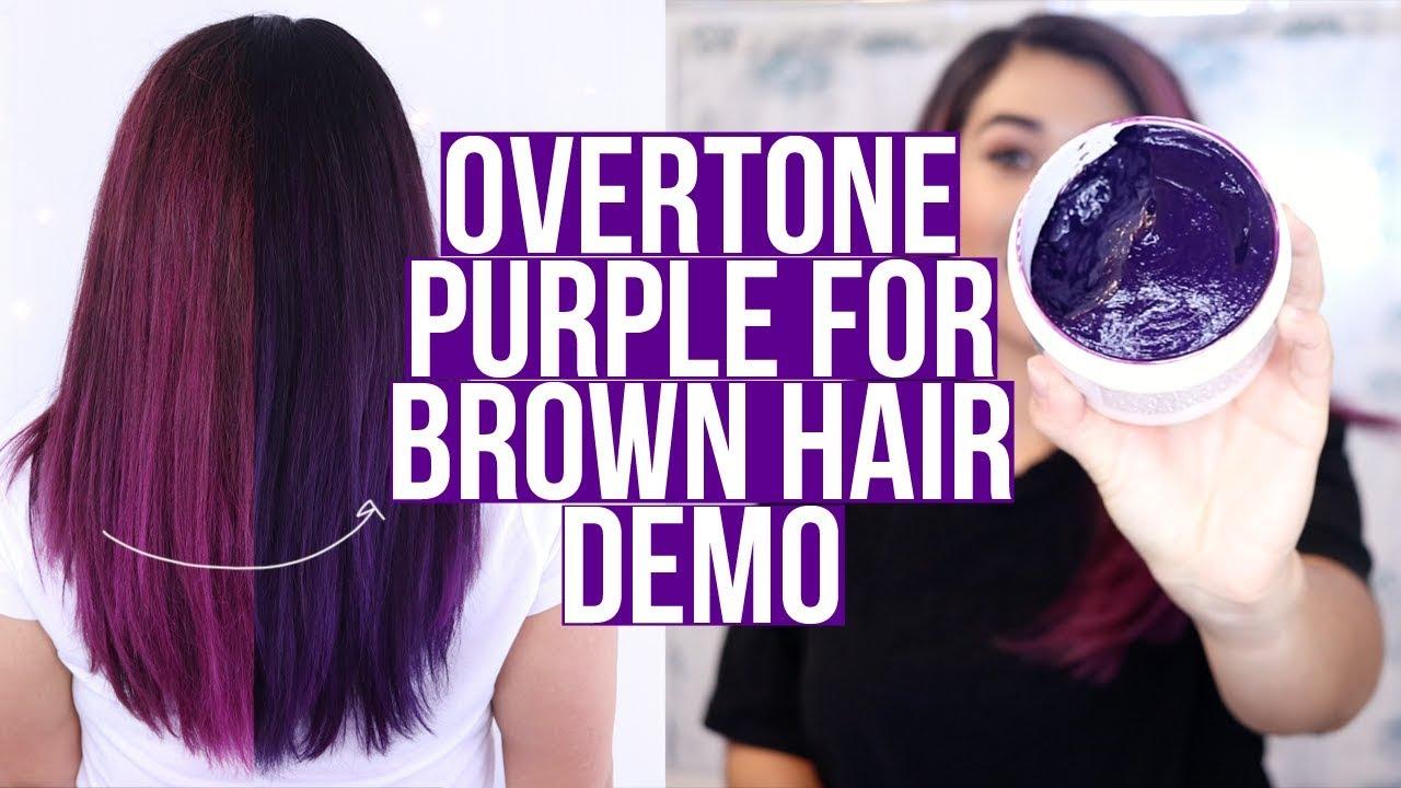 OVERTONE PURPLE FOR BROWN HAIR DEEP TREATMENT DEMO - YouTube
