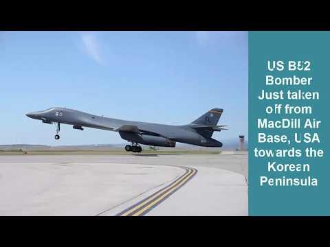 US B52 bomber sent towards Korean Peninsula against North Korea