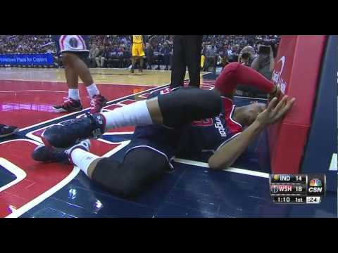 Bradley Beal right ankle sprain: Indiana Pacers at Washington Wizards