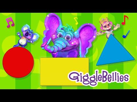 Shapes Song for Children | Learning Songs | GiggleBellies