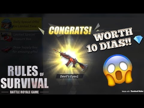 PULLING THE DEVIL'S EYE M4A1 FOR 10 DIAMONDS ONLY! - Rules of Survival (Tagalog)
