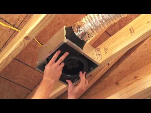 Broan Nutone Invent Bath Fan Installation Youtube