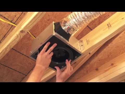 BroanNuTone InVent Bath Fan Installation  YouTube