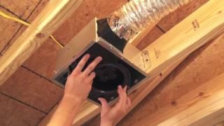 Broan-NuTone InVent Bath Fan Installation