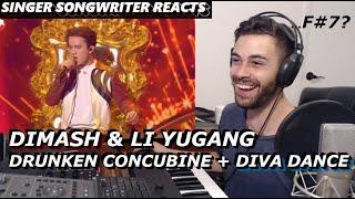 DIMASH & Li Yugang - Drunken Concubine + Diva Dance   Singer Songwriter Reaction