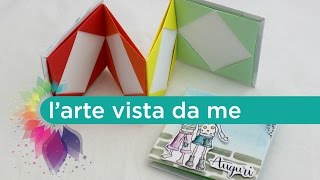 ORIGAMI Card (Mini Album) Tutorial- Scrapbooking - EASY ORIGAMI