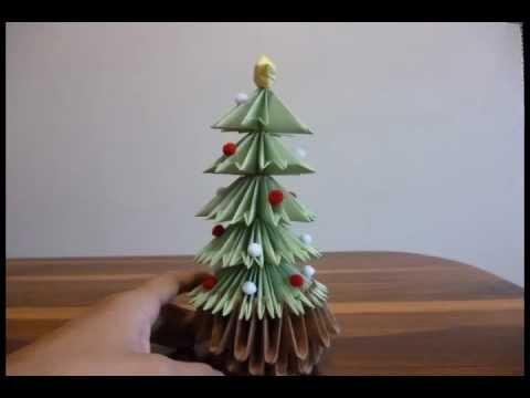 Arbol de navidad origami 3d youtube - Arbol de navidad de origami ...