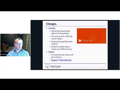 Office 365 CPD Session 3 Office Mix and Stream