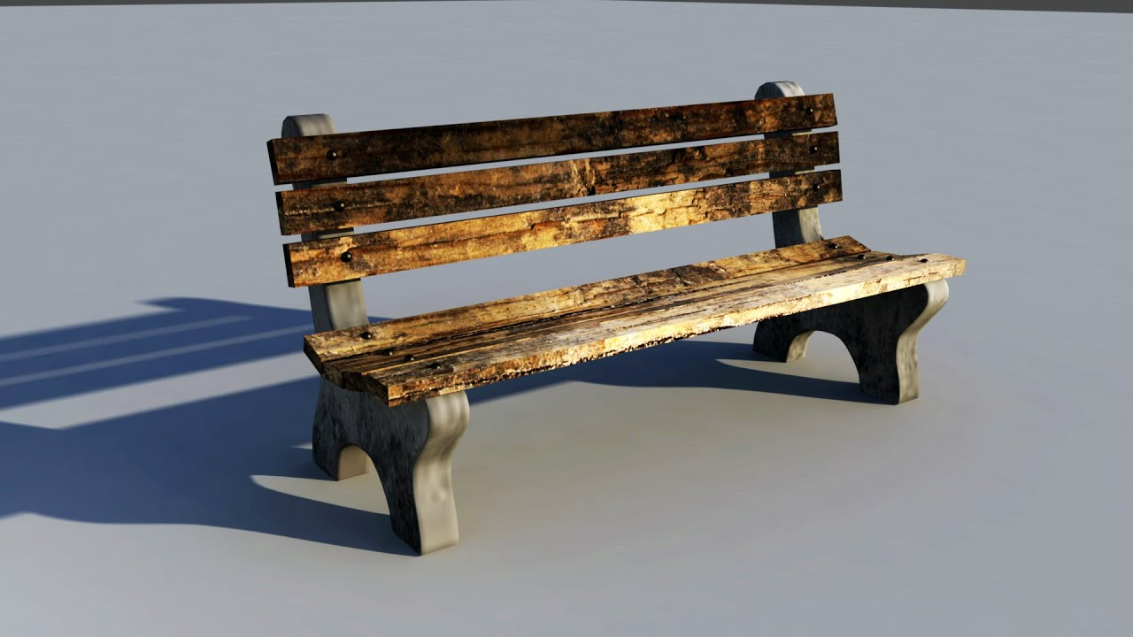 Maya 2016 Modeling Tutorial How To Model A Park Bench