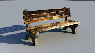 Maya 2016 modeling tutorial : How to model a Park Bench