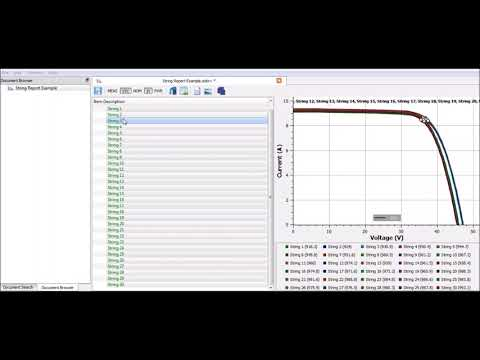 Getting Started With Seaward SolarCert - I-V Curve Reports