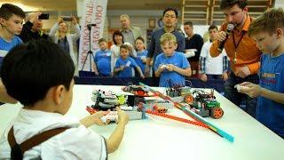 Бои роботов - Олимпиаде по робототехнике Часть 2