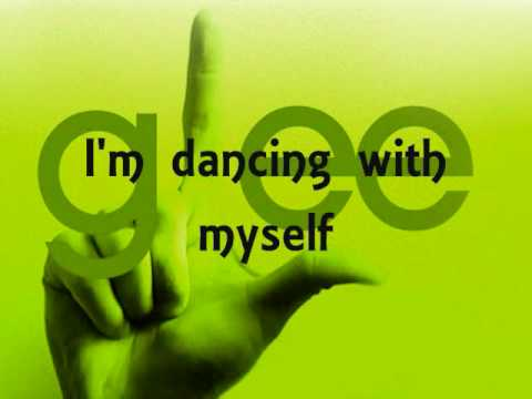 Dancing With Myself (Glee Cast Version) - Kevin McHale (Artie Abrams) - Lyrics on screen