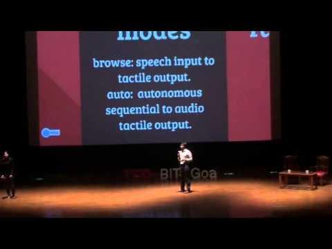 Learning through a Braille dicta-teacher: Sanskriti Dawle and Aman Shrivastava at TEDxBITSGoa