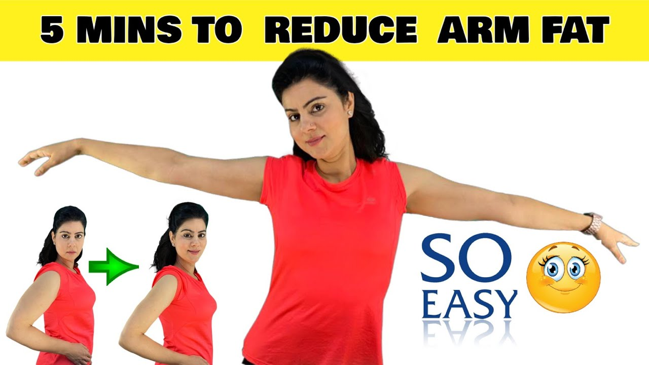 Just 5 Mins to Sexy Toned and Lean Arms Workout | Lose Arm Fat At Home ( No Equipment )