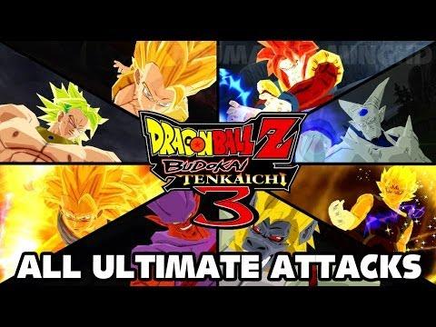 Dragon Ball Z: Budokai Tenkaichi 3 HD - All Ultimate Attacks [1080p] TRUE-HD QUALITY