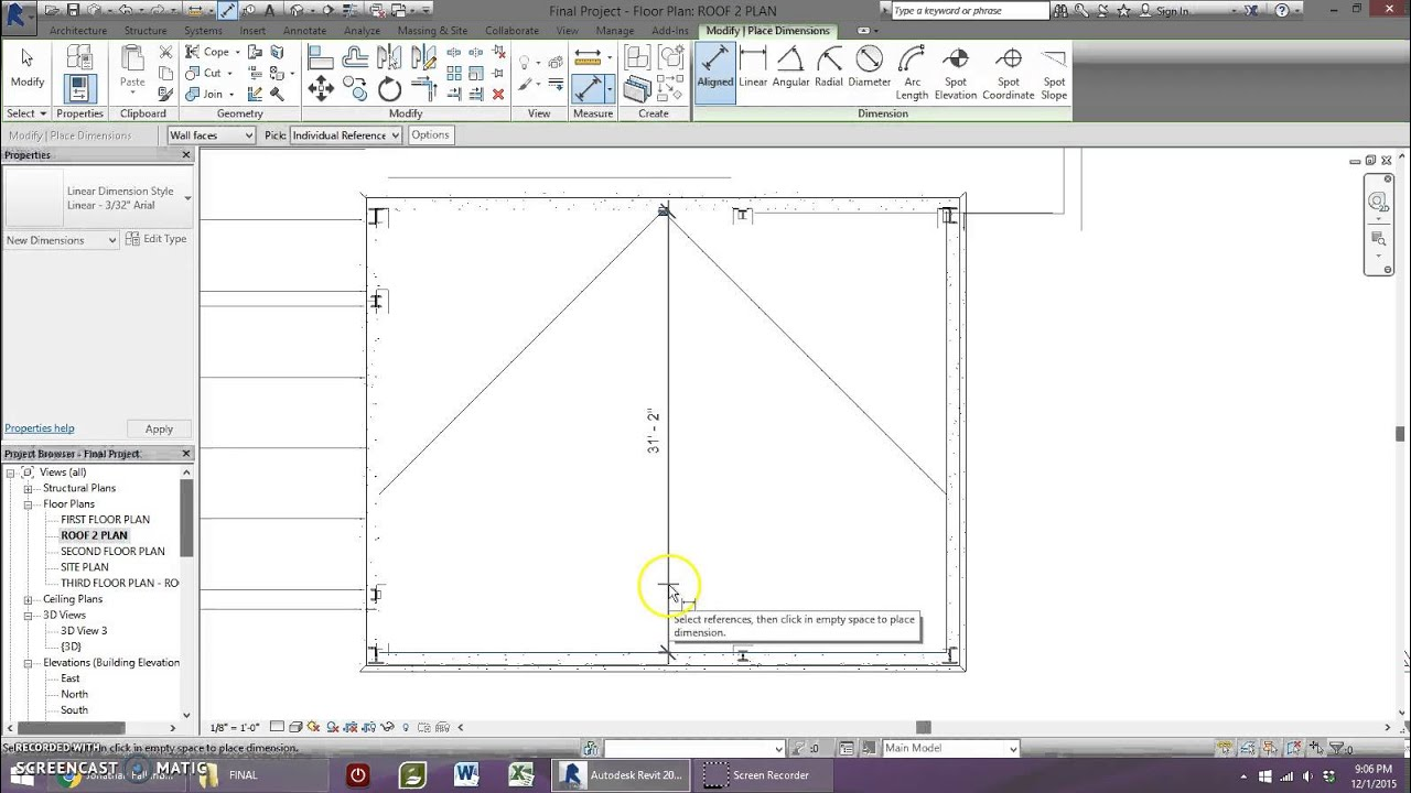 How To Add Crickets To A Flat Roof In Revit Youtube
