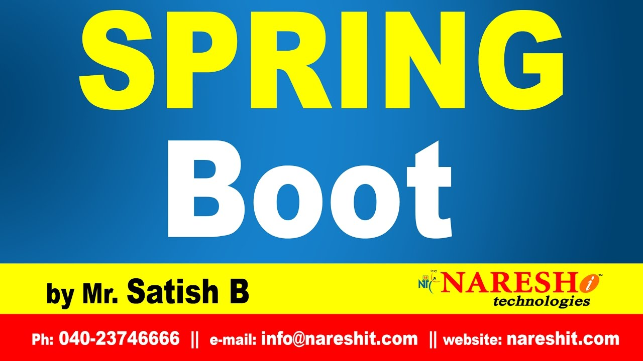 Spring Boot Introduction | Spring Boot Tutorial | Mr  Satish B